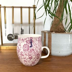 "Anthropologie Homegrown Letter ""J"" Monogram Mug"